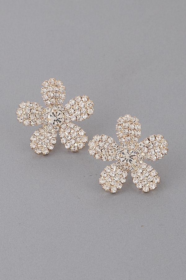 Luxury Rhinestone Flower Earrings - orangeshine.com