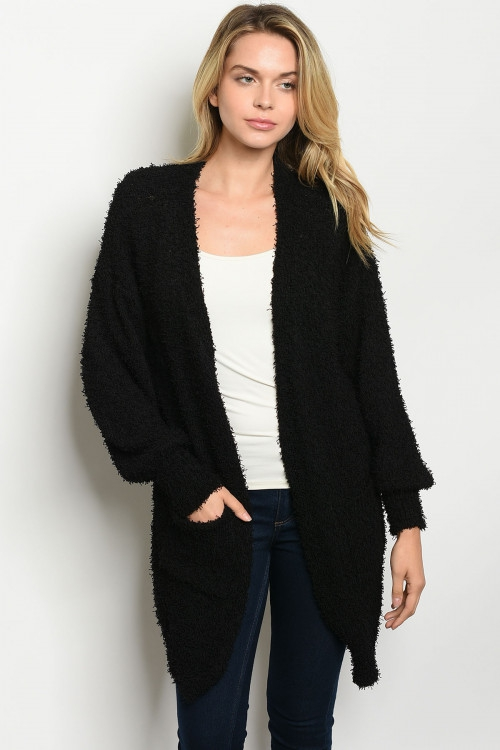 Long sleeve knit sweater cardigan - orangeshine.com