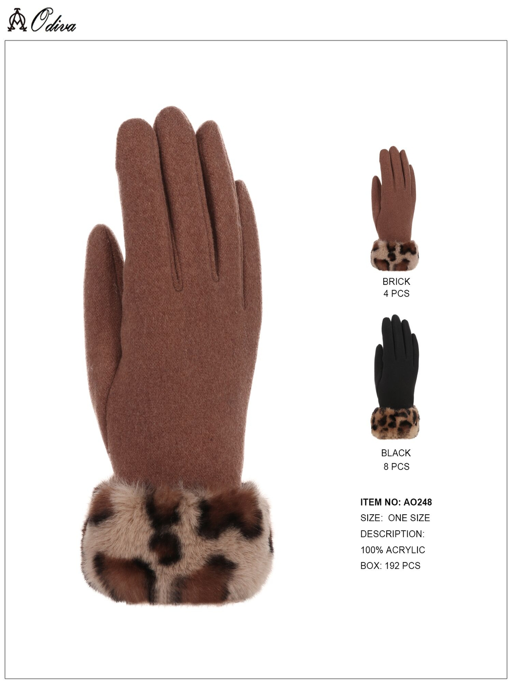 Faux Fur Gloves - orangeshine.com