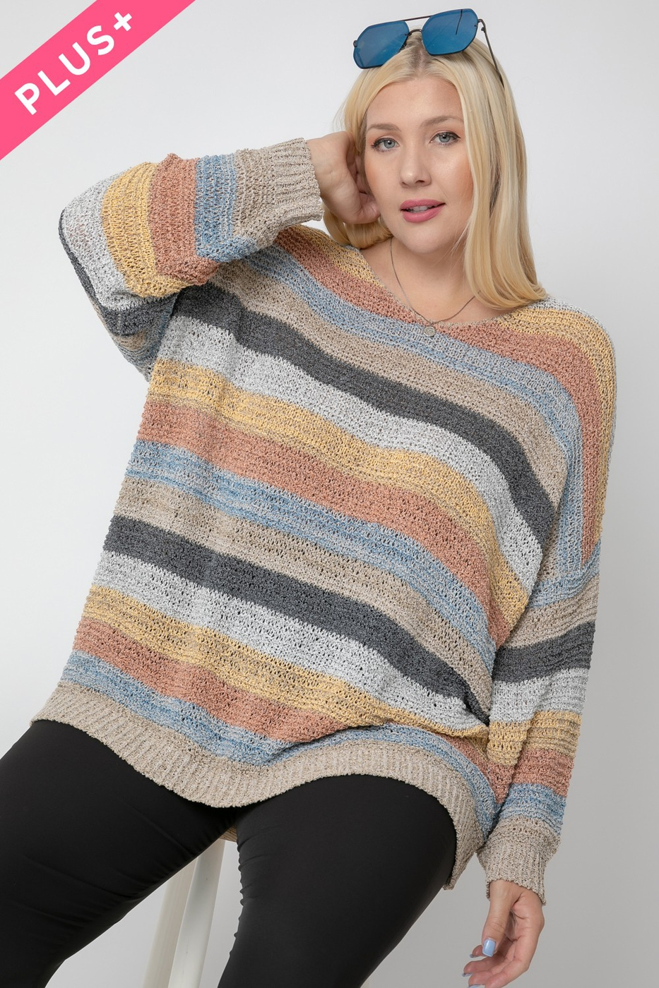 OVERSIZED LONG SLEEVE  SWEATER - orangeshine.com