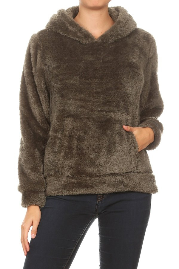 Fur Fuzzy Winter Sweaters Hoodie - orangeshine.com