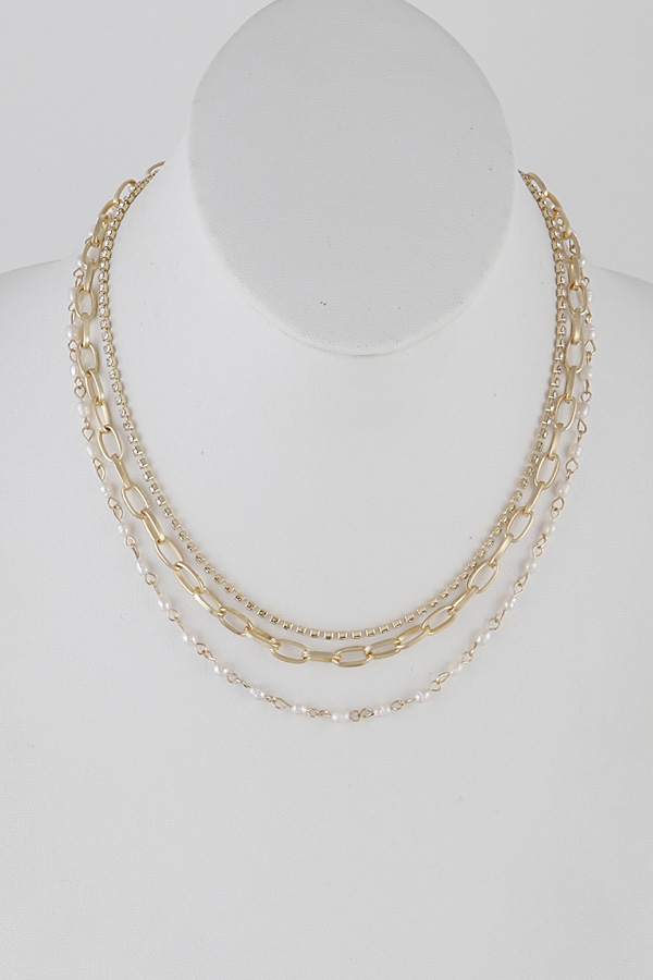 Three Layer Necklace - orangeshine.com