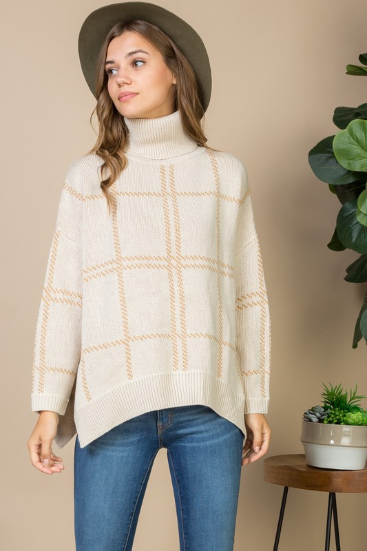 TURTKE NECK SWEATER - orangeshine.com
