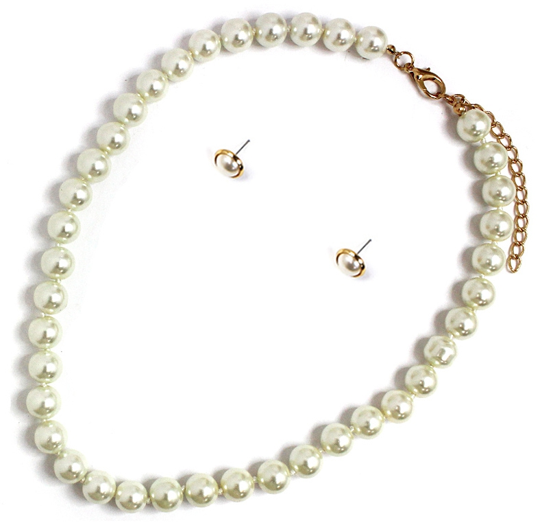 GLASS PEARL THREAD KNOT NECKLACES - orangeshine.com
