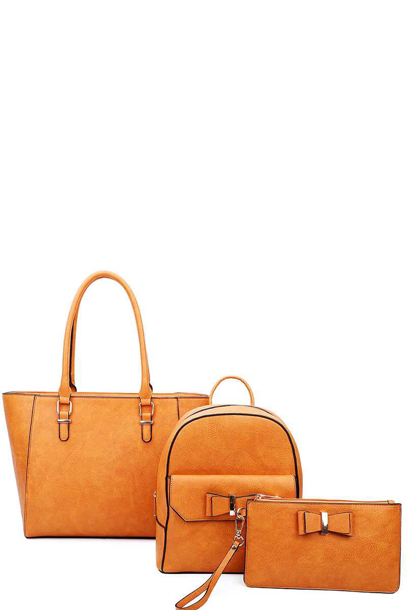 3 IN 1 SATCHEL BACK CLUTCH SET - orangeshine.com