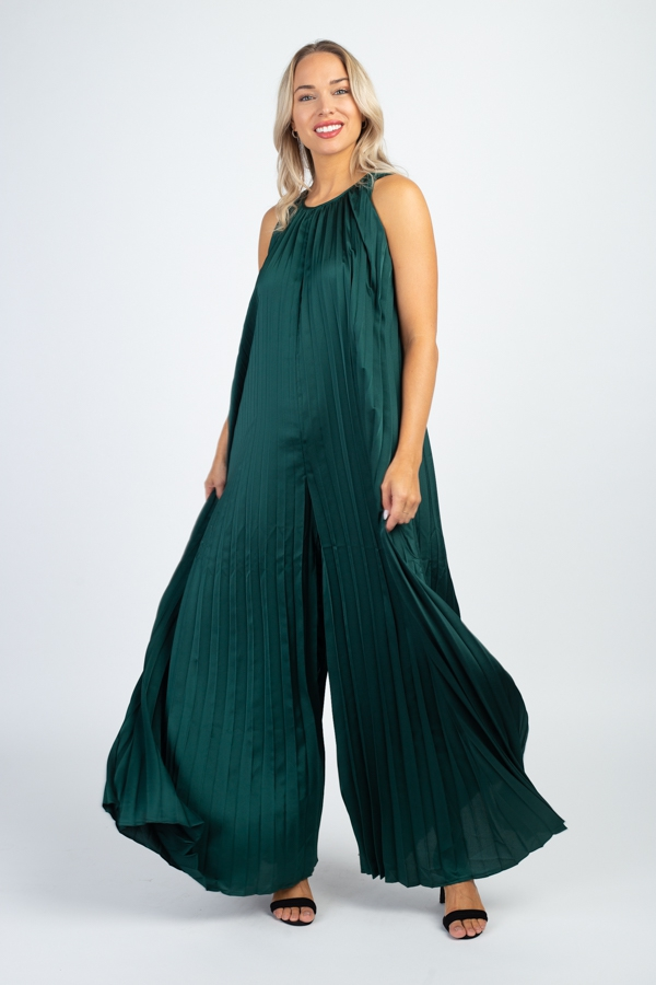 Pleated Jumpsuit - orangeshine.com
