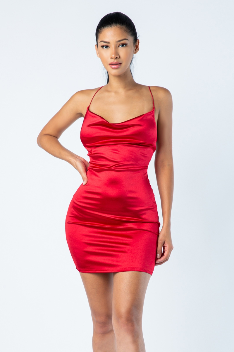 Spaghetti strap short dress - orangeshine.com