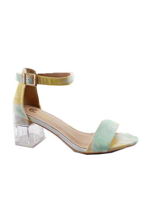 CLEAR LOW HEEL OPEN WITH BUCKLE STRA - orangeshine.com