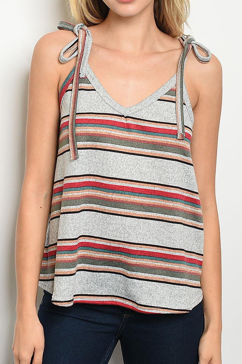 MULTI STRIPE TANK TOP - orangeshine.com
