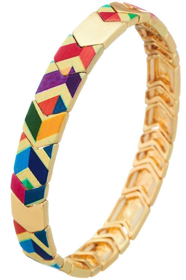 triba pattern chevron stretch bracel - orangeshine.com