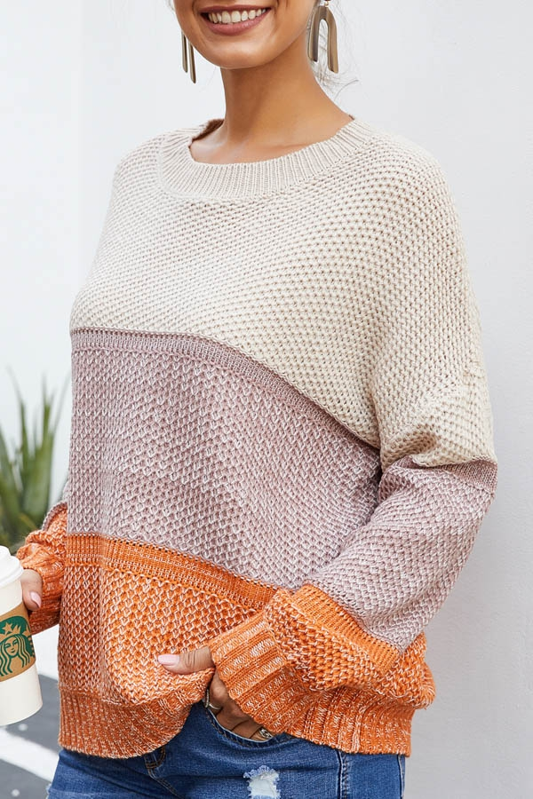 SWEATER ROUND NECK LONG SLEEVE - orangeshine.com
