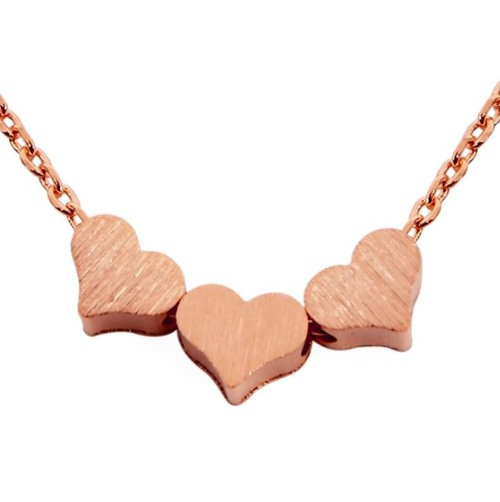 TRIPLE HEART CAST PENDANT NECKLACE - orangeshine.com