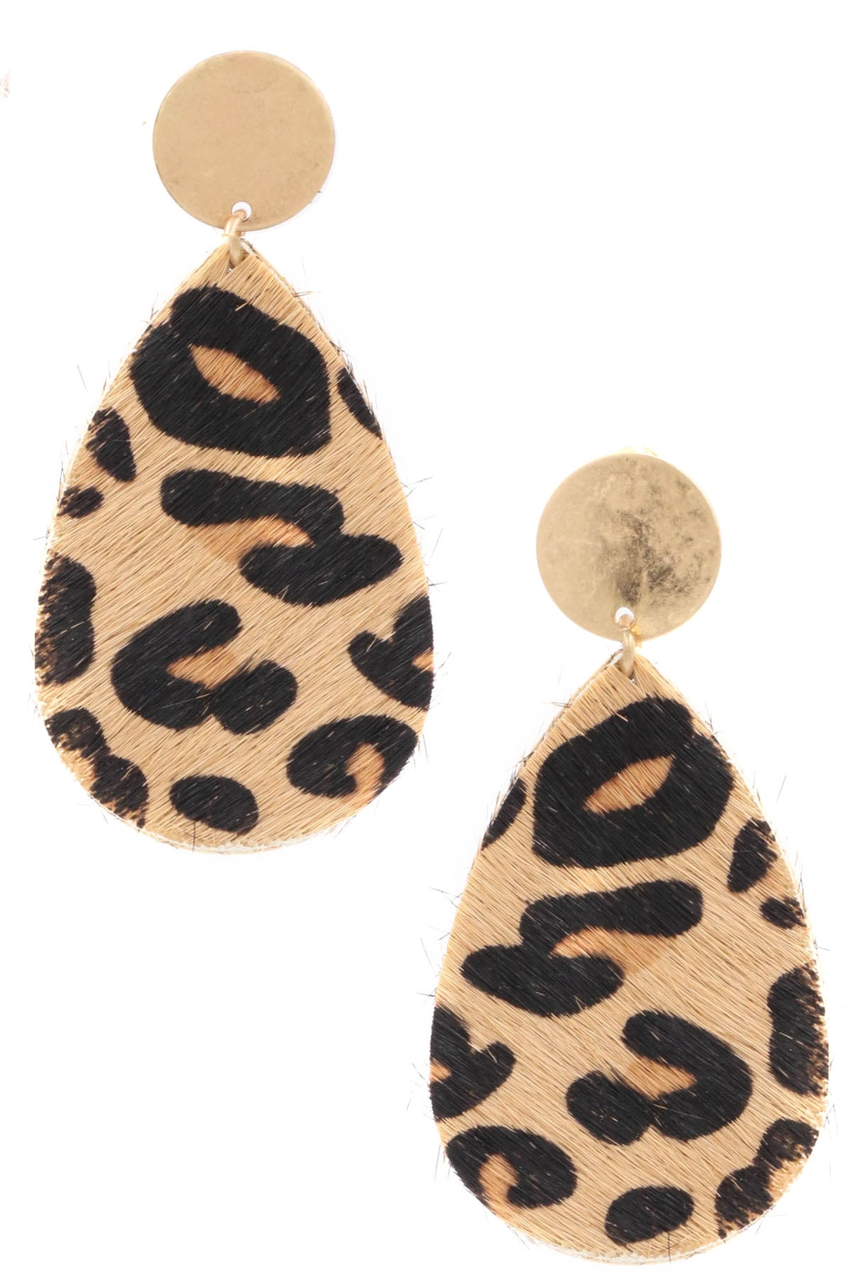Faux Fur Drop Earrings - orangeshine.com