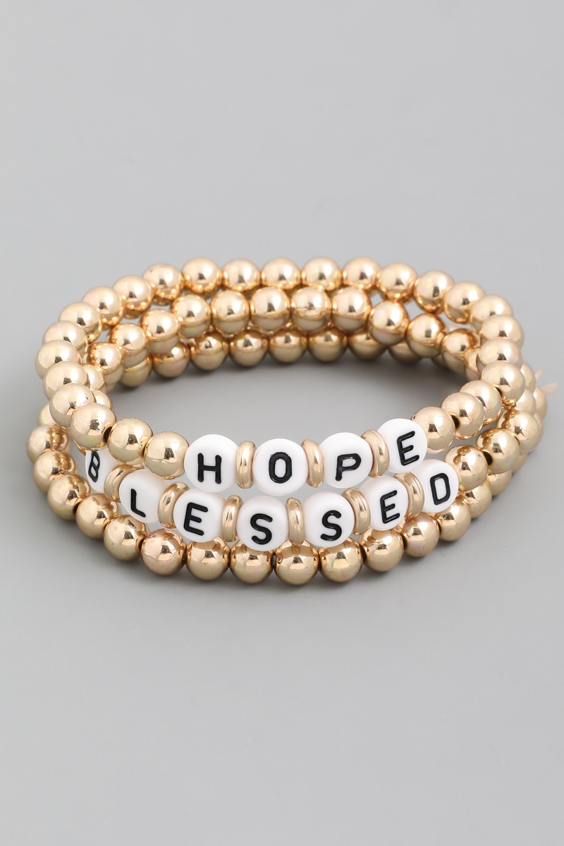 Blessed Hope Beaded Bracelet Set - orangeshine.com