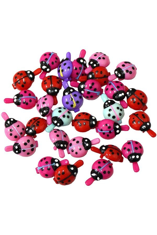 30 piece sets of multi color ladybug - orangeshine.com