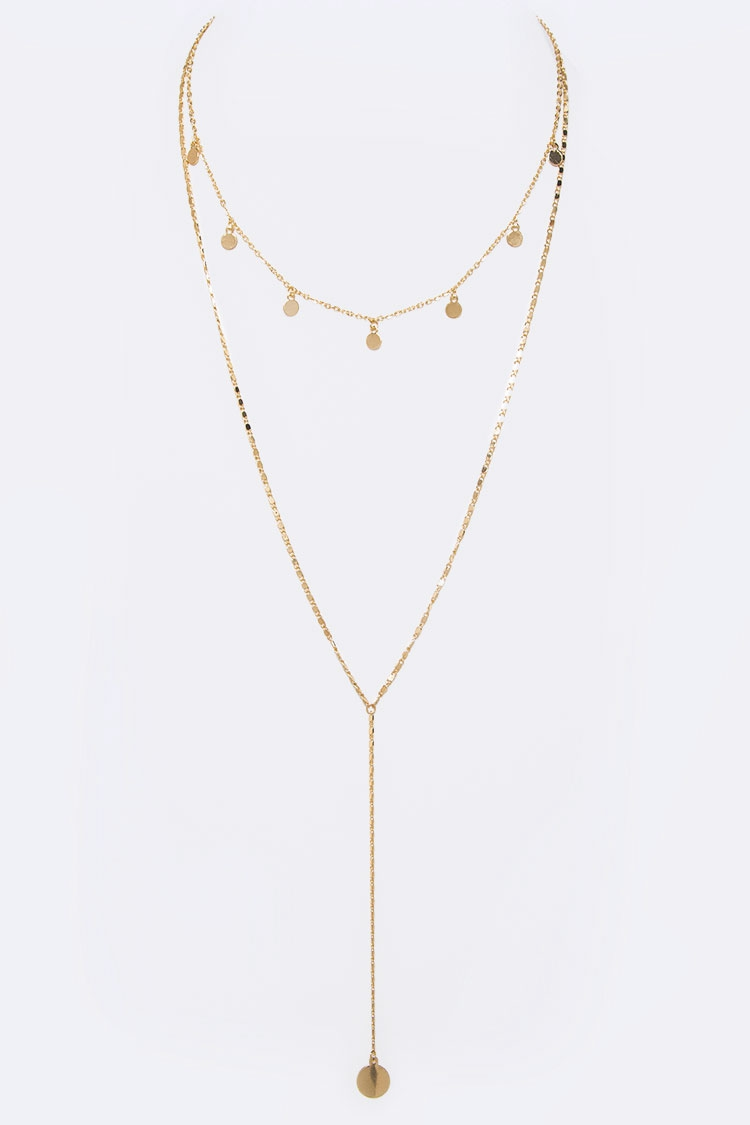 Petite Dangle Layered Necklace - orangeshine.com