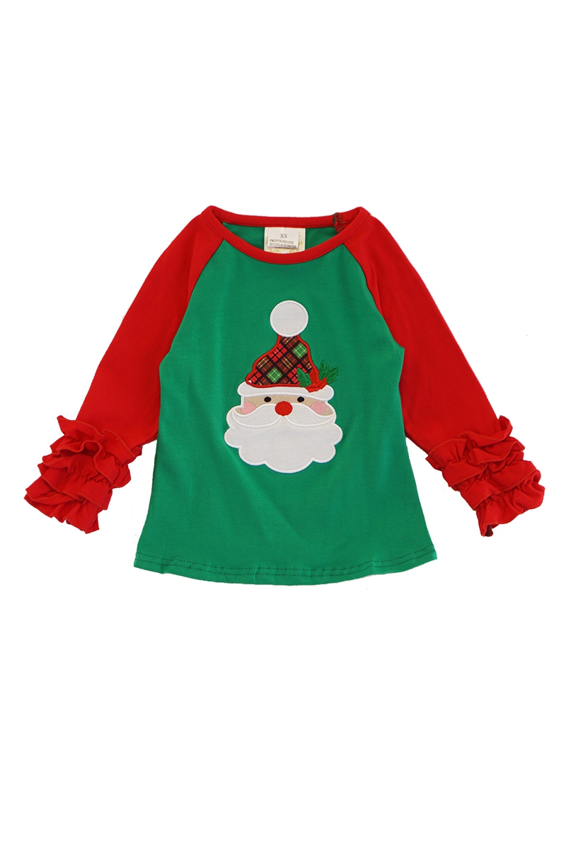 Red green christmas santa raglan - orangeshine.com