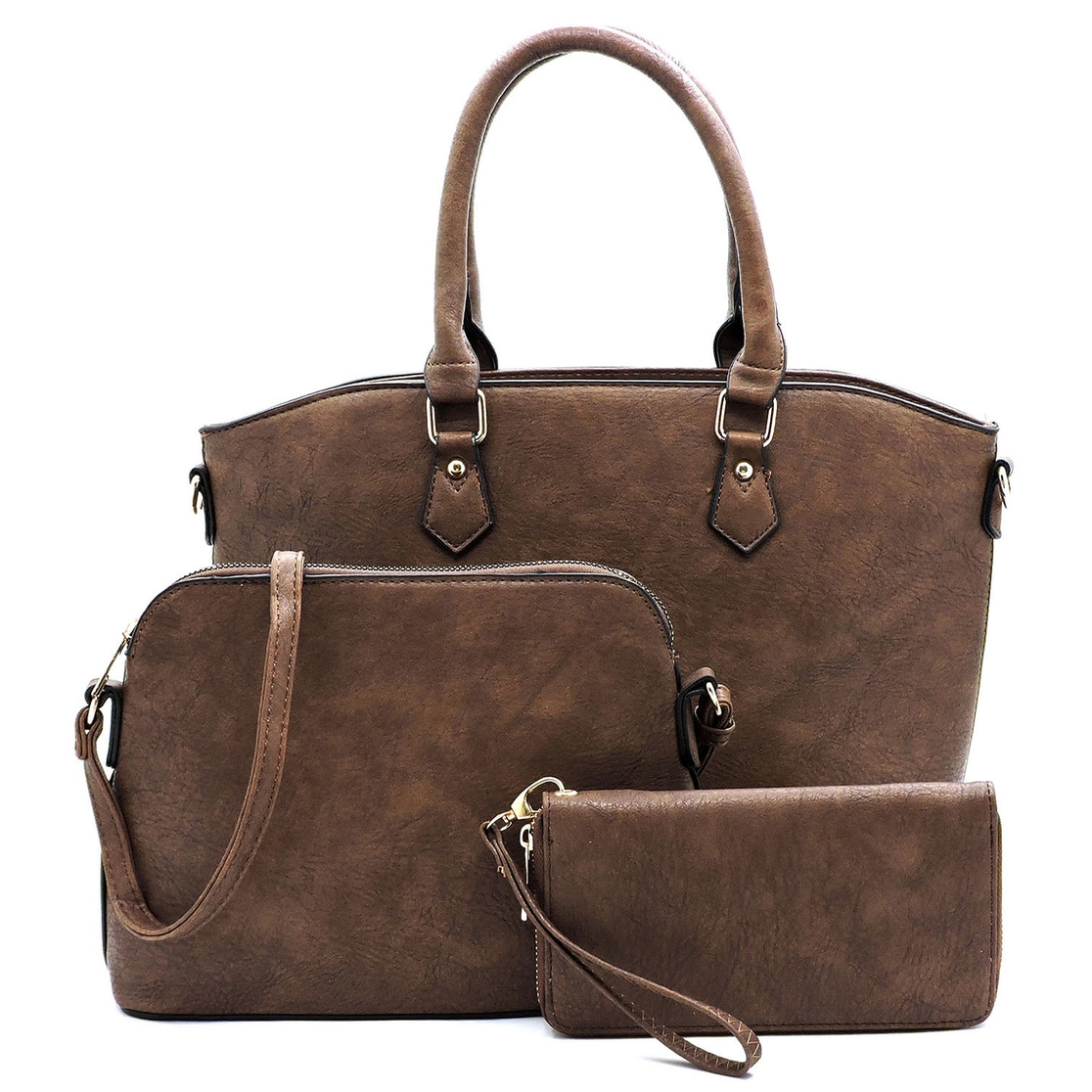 Fashion Top Handle 3-in-1 Satchel - orangeshine.com