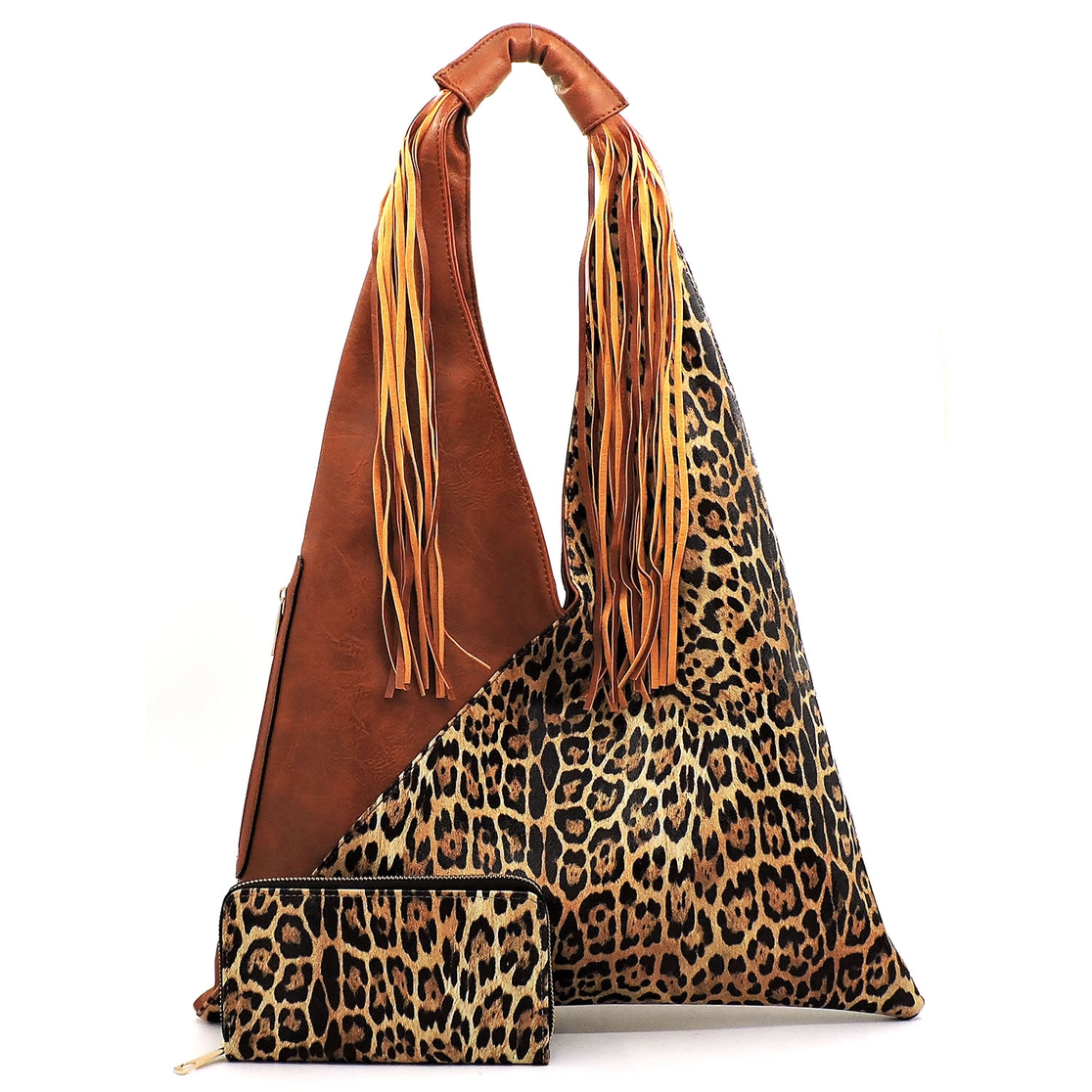 Leopard Colorblock Fringe 2-in-1 Hob - orangeshine.com
