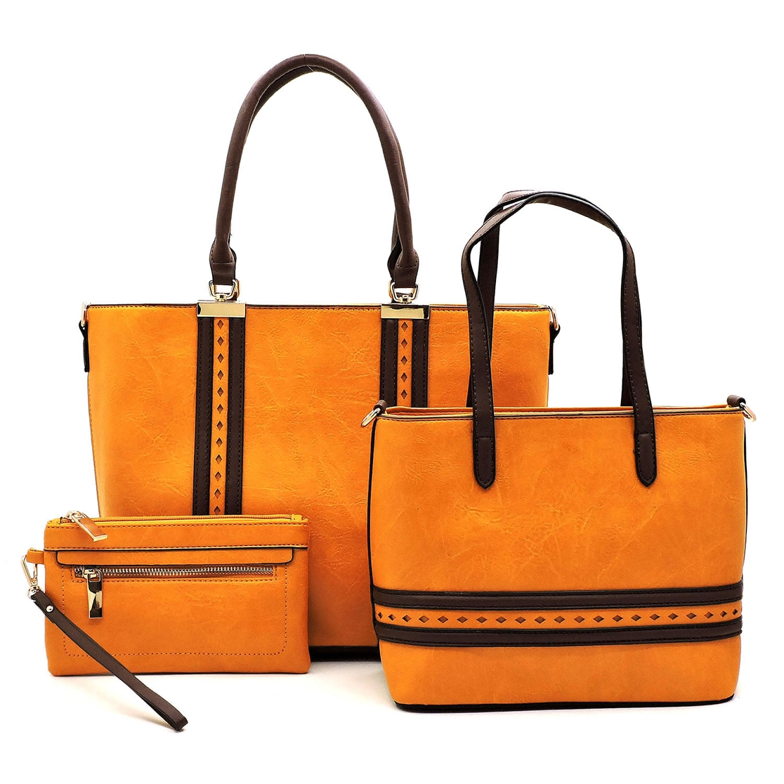 Laser Cut Stripe 3-in-1 Shopper - orangeshine.com