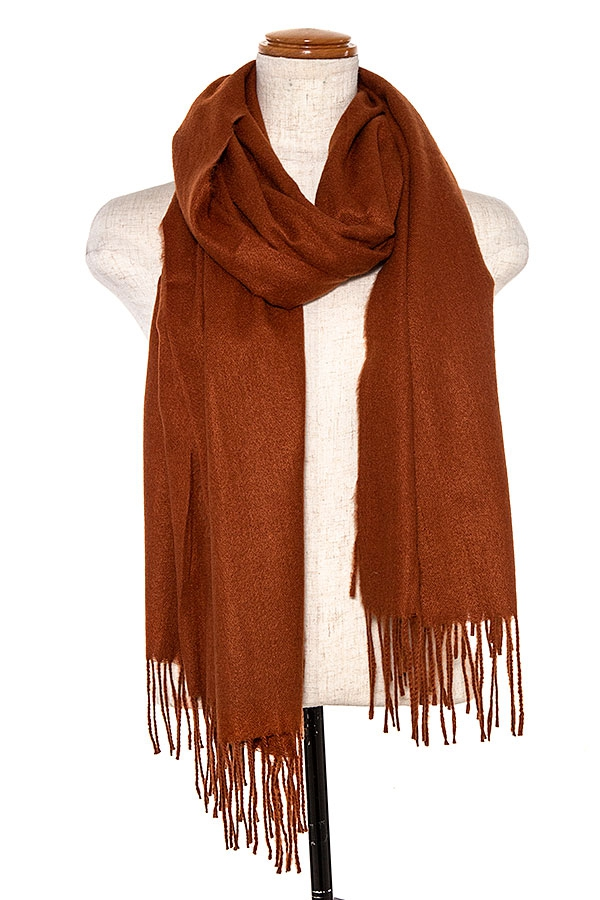 OBLONG FRINGE END SCARF - orangeshine.com