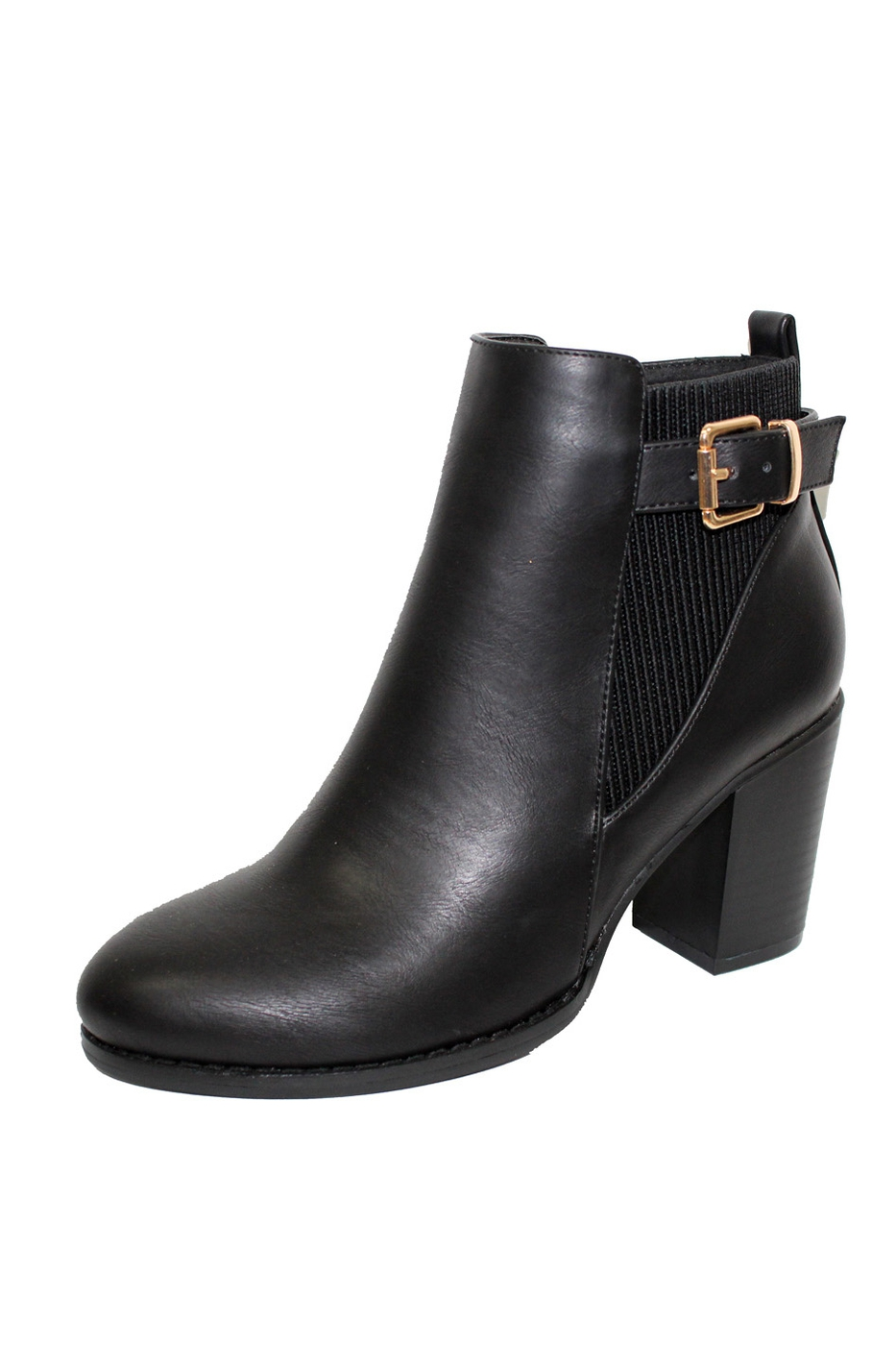 heel buckle accents booties - orangeshine.com