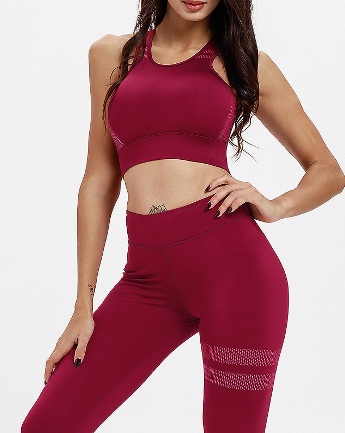 Crop Top High Rise Leggings - orangeshine.com