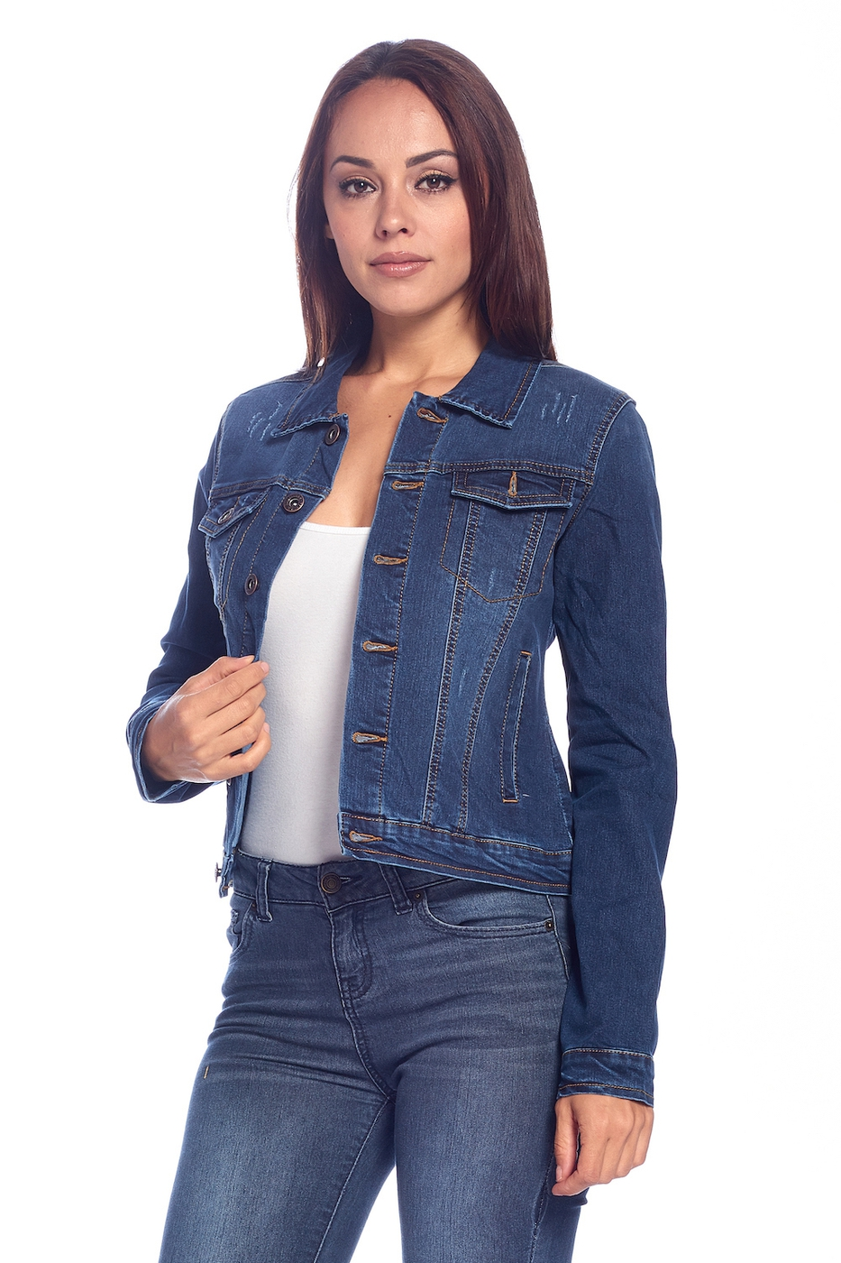 DENIM JACKETS SOLID WASHED - orangeshine.com