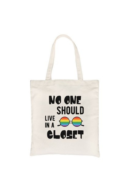 No Live Closet Rainbow Canvas Bag - orangeshine.com