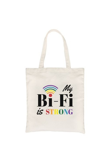 Bi-Fi Strong Rainbow Canvas Bag - orangeshine.com