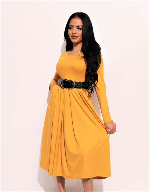 PLEATED MIDI DRESS  - orangeshine.com
