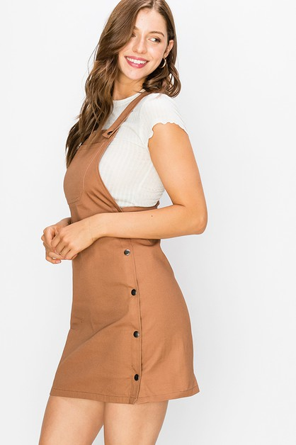 APRON SHORT DRESS - orangeshine.com