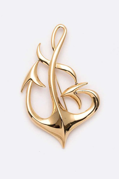 Large Iconic Anchor Brooch - orangeshine.com