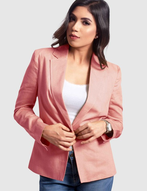 Plus Size Single Breasted Blazer - orangeshine.com