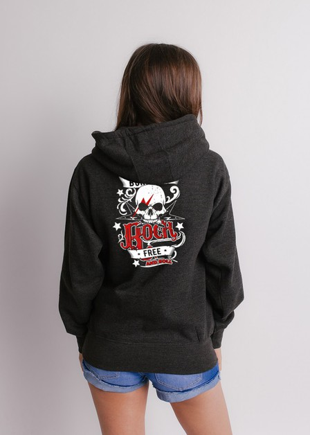 Ladies Drawstring Pullover Hooded  - orangeshine.com