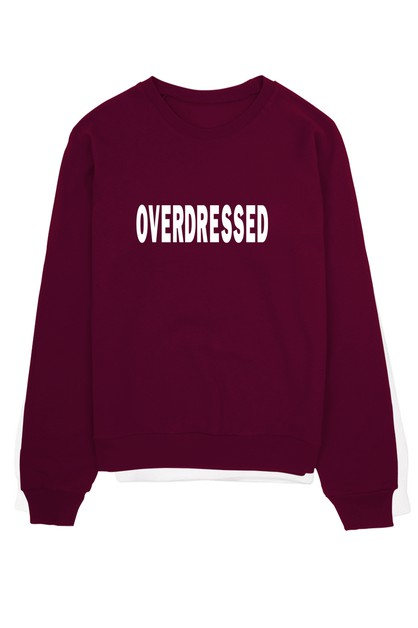 OVERDRESSED CREW NECK SWEATER - orangeshine.com