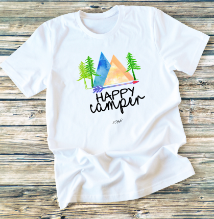 GRAPHIC TEE - Happy Camper - orangeshine.com