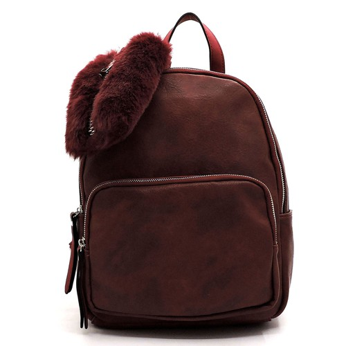 Fashion 2-in-1 Backpack _Fur Clutch - orangeshine.com