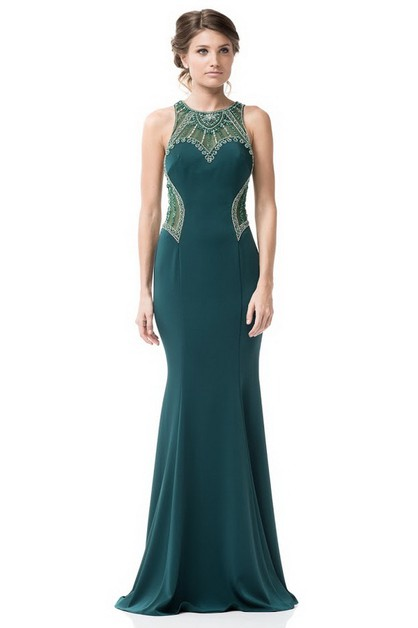 Sleeveless Evening Dress - orangeshine.com