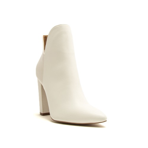 Qupid Ankle High Pointed Toe Booties - orangeshine.com