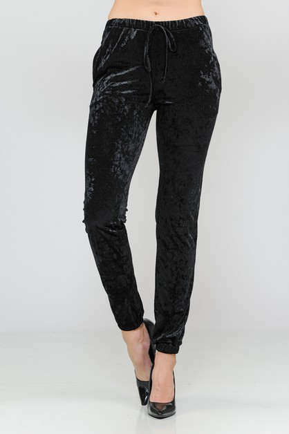 ICE VELVET ELASTIC BAND CASUAL PANTS - orangeshine.com