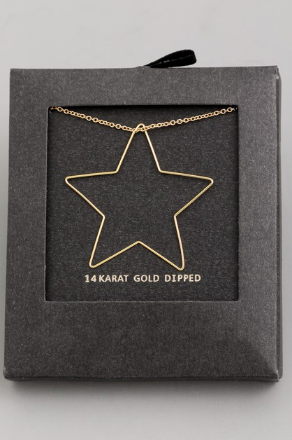 Wire Star Charm Necklace - orangeshine.com