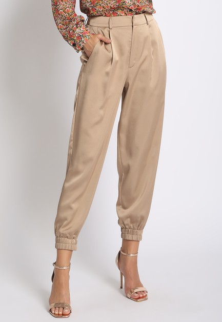 SATIN JOGGER TROUSERS - orangeshine.com