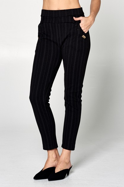 STRIPE CHEVRON SLIM FIT PANTS - orangeshine.com