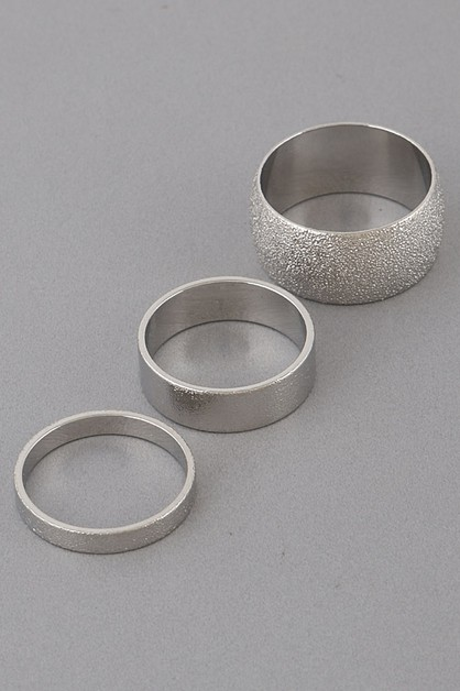 Textured Rings Set - orangeshine.com