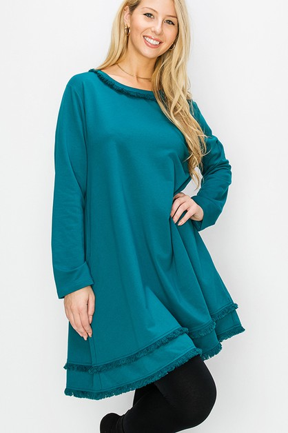 LONG SLEEVES KNIT DRESS - orangeshine.com