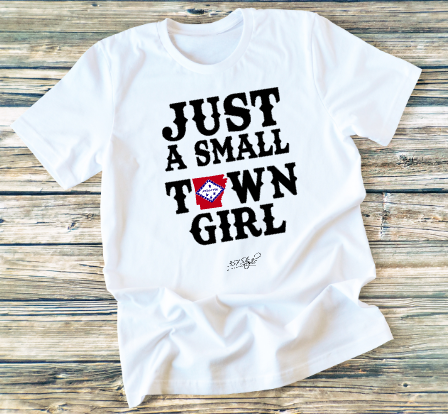 GRAPHIC TEE - Just A Small Town Girl - orangeshine.com