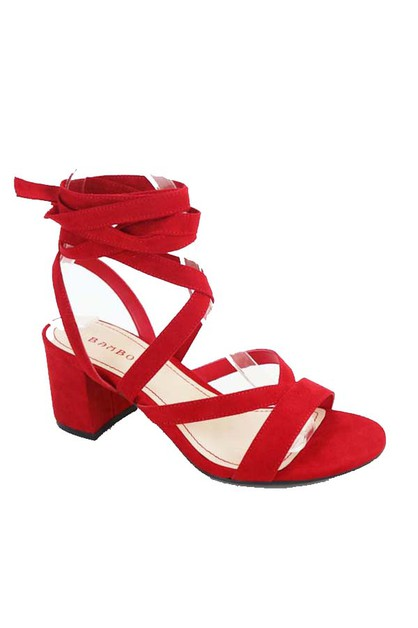 CRESS CROSS LOW OPEN HEEL WITH LACE  - orangeshine.com