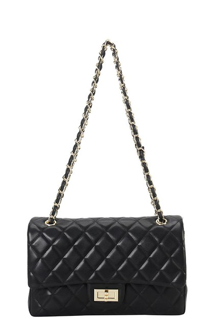 DESIGNER QUILTED SHOULDER BAG - orangeshine.com