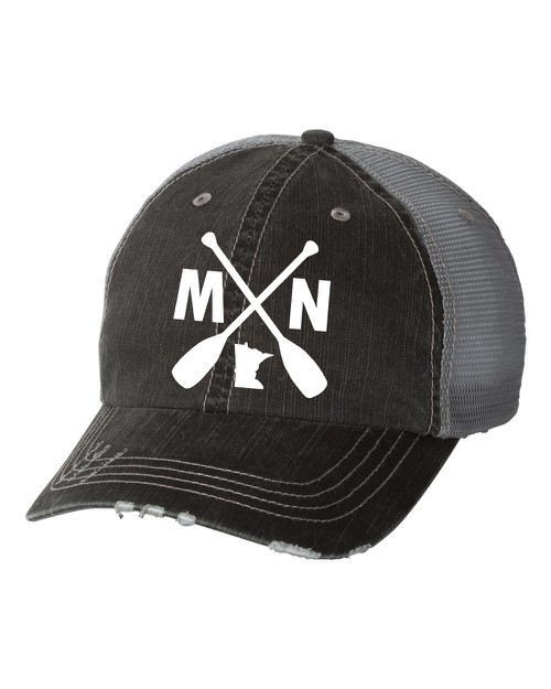 MN with Paddles Embroidered Trucker  - orangeshine.com